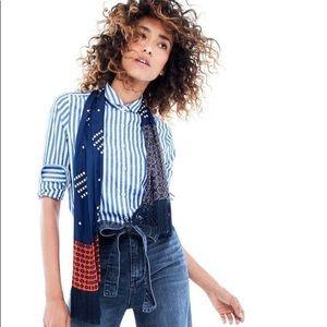 J. Crew Club-Collar Boy Shirt in Jacquard Stripe